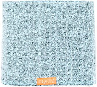 Aquis Waffle Luxe Hair Towelin Dream Boat Blue