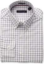 Tommy Hilfiger Men's Non Iron Regular Fit Multi Check Bd Collar Dress Shirt