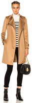 Burberry Wrap Trench Coat in Brown,Neutrals.