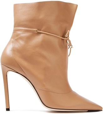 Jimmy Choo Stitch Leather Ankle Boots