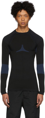 Givenchy Black and Blue Athletic Sweater