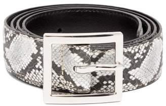 Amiri Python Embossed Leather Belt - Mens - Black Multi
