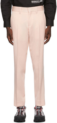 Burberry Pink Check Side Stripe Trousers