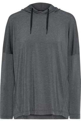 Iris & Ink Stretch-jersey Hooded Top