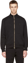 Burberry Black Sheltone Zip-up Sweater