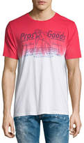 PRPS Vintage-Logo Tie-Dye Short-Sleeve T-Shirt, Red
