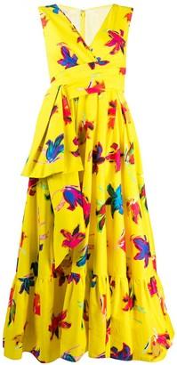 Talbot Runhof Boma floral print dress