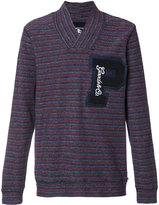 PRPS striped V-neck sweatshirt - men - Cotton - M