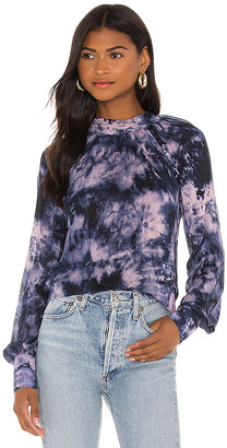 Bella Dahl Tie Back Mock Neck Blouse