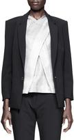 Alexander Wang Single-Snap Bracelet-Sleeve Blazer