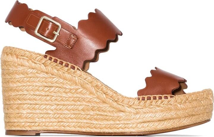 Chloé Lauren 60mm espadrille wedge sandals