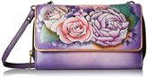 Anuschka Handpainted Leather Convertible Wallet On A String