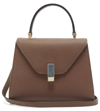 Valextra Iside Stone-clasp Leather Bag - Brown
