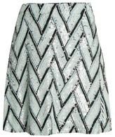 House of Holland Sequin-embellished mini skirt