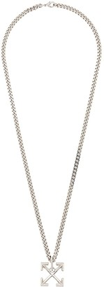 Off-White Arrows link chain necklace