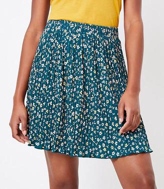 LOFT Floral Pleated Skirt