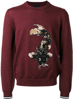 Lanvin intarsia Koi fish jumper - men - Wool - M