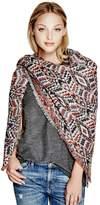 GUESS Women's Geometric Blanket Scarf