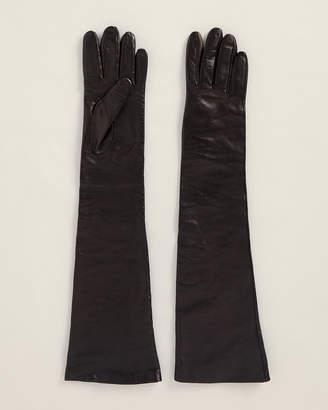 Off-White Off White Black Leather Gloves
