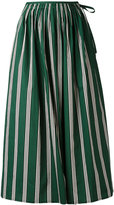 Aspesi gathered striped skirt