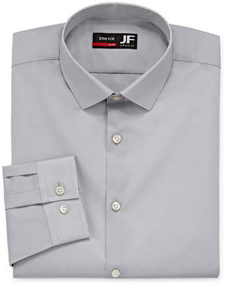 Jf J.Ferrar Easy-Care Coolmax Point Collar Big and Tall Long Sleeve Stretch Cooling Dress Shirt