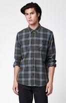 Ezekiel Thunder Plaid Flannel Long Sleeve Button Up Shirt