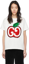 Gucci White GG Apple T-Shirt