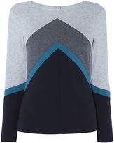Karen Millen Colour-block Top - Grey/multi