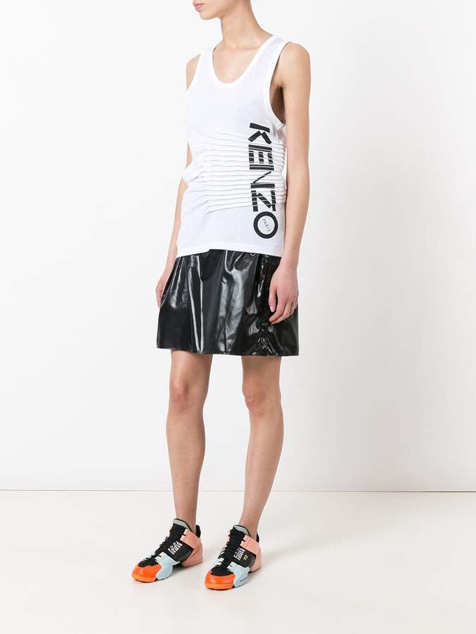 Kenzo ruched logo print tank top