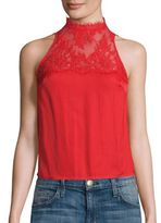 Free People Tied To You Lace Open-Back Top