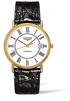 Longines Men's Presence Leather Strap Watch