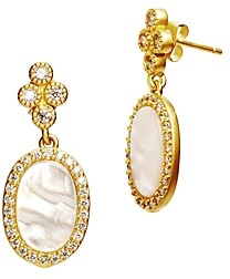 Freida Rothman Color Theory Oval Drop Earrings in 14K Gold-Plated Sterling Silver or Rhodium-Plated Sterling Silver