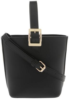 Miss Shop Marble Buckle Top Handle Bucket Bag