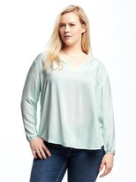 Old Navy Relaxed Plus-Size Shirred Blouse