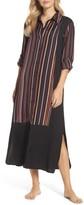 DKNY Women's Washed Satin Maxi Sleep Shirt