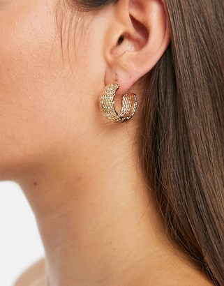 Accessorize hoop earrings in gold chain design