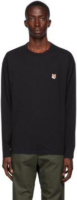 MAISON KITSUNÉ Black Fox Head Long Sleeve T-Shirt