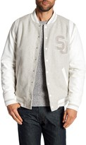 Sean John Mixed Media Varsity Jacket