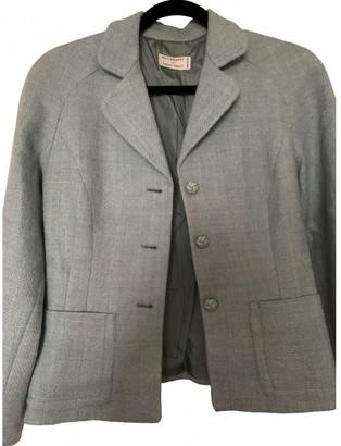 Philosophy di Alberta Ferretti Turquoise Wool Jacket for Women