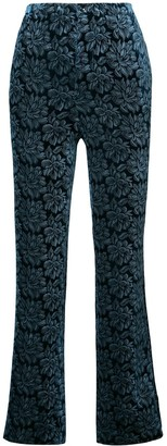 Maison Margiela floral embroidered trousers