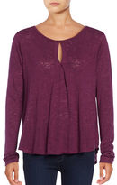 Velvet By Graham And Spencer Solid Long Sleeve Top