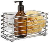 BlissHome Stick 'em Up Rectangular Shower Basket, Silver