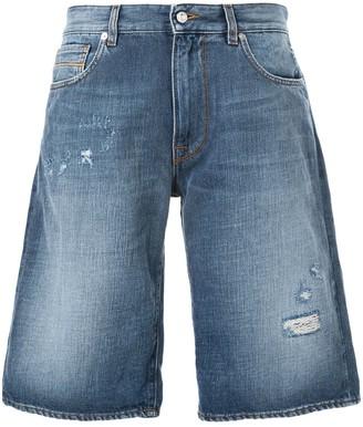 Love Moschino Ripped Denim Shorts
