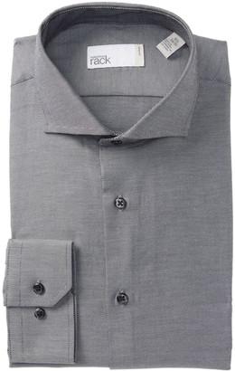 Nordstrom Rack Solid Twill Trim Fit Dress Shirt