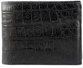 Santiago Gonzalez Crocodile Bi-Fold Wallet, Black