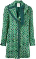 Marco De Vincenzo tweed coat - women - Cotton/Viscose/Virgin Wool - 40