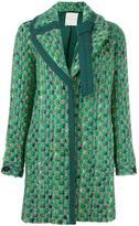 Marco De Vincenzo tweed coat - women - Virgin Wool/Cotton/Viscose - 40