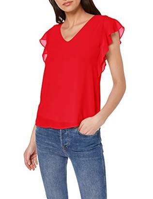 S'Oliver BLACK LABEL Women's 11.903.32.7684 T-Shirt, (high red 30), (Size:36)