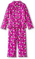 Komar Kids Minnie Mouse Little Girls' 2-Piece Pajamas -AllOver Print