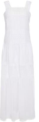Charo Ruiz Ibiza Crocheted Lace-paneled Cotton-blend Voile Maxi Dress
